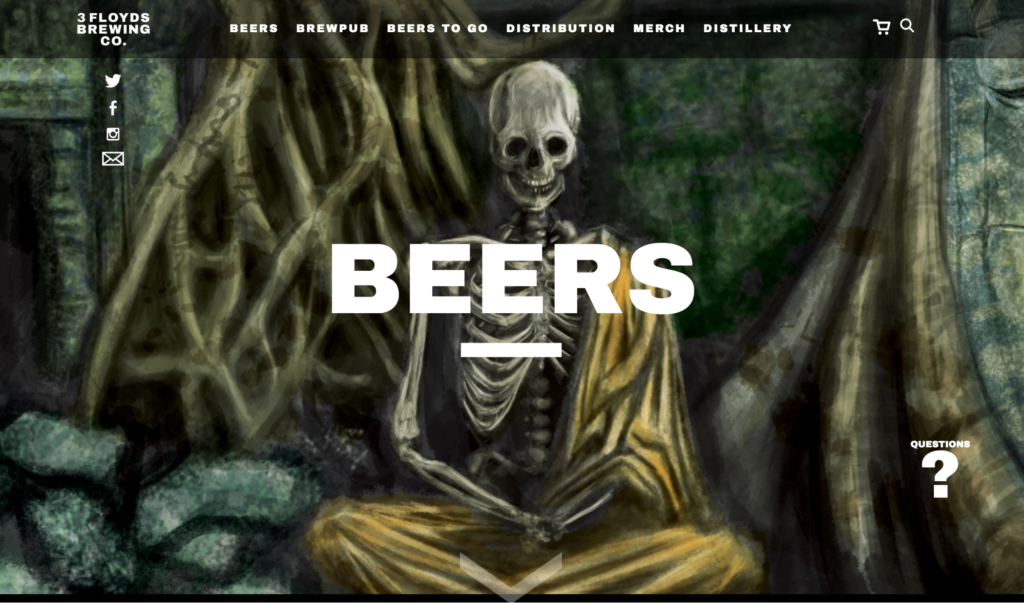 three-floyds-website-design
